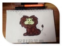 可爱的小狮子简笔画教程