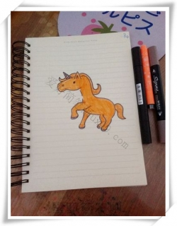 独角兽怎么画简笔画,一步一步教你画独角兽
