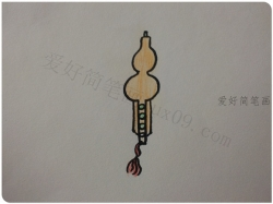 葫芦丝简笔画最简单的画法教程