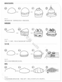 面包简笔画步骤,美食简笔画大全