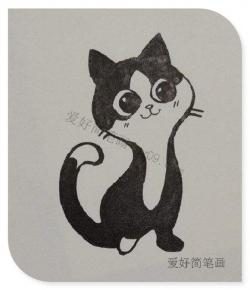 小猫简笔画漂亮可爱