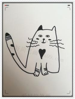 可爱呆萌的小猫咪简笔画画法