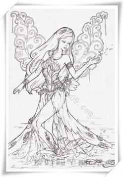 带翅膀的公主简笔画简单又漂亮