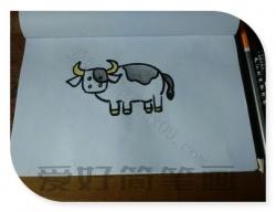 奶牛怎么画简笔画图片-奶牛简笔画教程