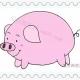 胖胖的粉色小猪简笔画画法