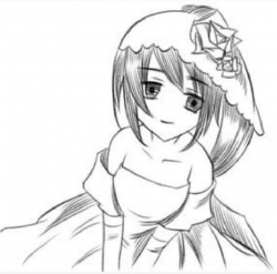 动漫女孩图片简笔画