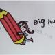 可爱的铅笔画简笔画图文讲解