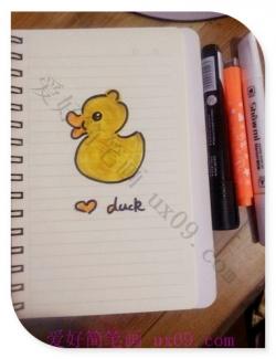 小黄鸭简笔画教程