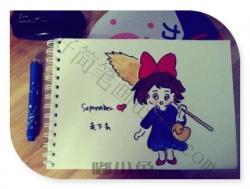 可爱的小女孩简笔画