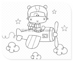 小狗开飞机简笔画图片
