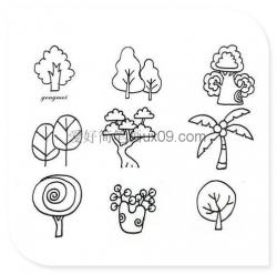 非常简单的植物简笔画