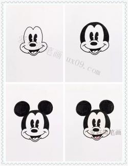 米老鼠和米妮的头像简笔画画法