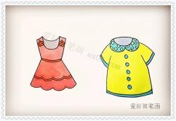 短袖和裙子的简笔画画法教程