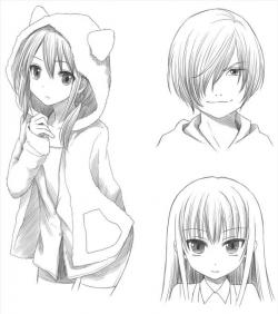 女孩简笔画头像