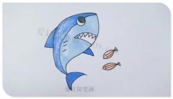 简笔画鲨鱼的画法步骤