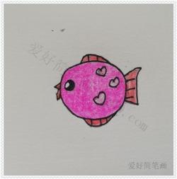 简单的热带鱼简笔画步骤
