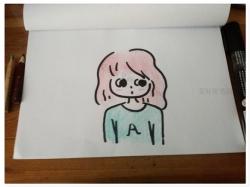 画小女孩简单又漂亮