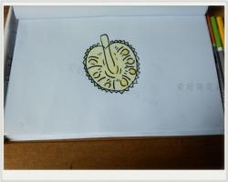 菠萝蜜简笔画教程图片
