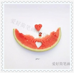 可爱的水果创意简笔画
