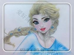 冰雪奇缘艾莎公主简笔画