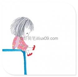 非常简单、可爱的小女孩简笔画