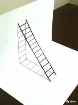 3D梯子简笔画