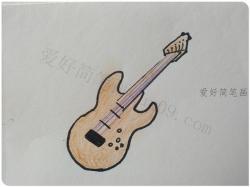 乐器贝斯简笔画画法步骤图片