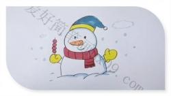 雪人的画法简笔画图片超详细带颜色