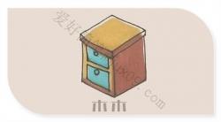 怎么画床头柜简笔画-床头柜简笔画教程
